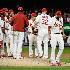 Cardinals ace Adam Wainwright was not his normally dominant self in Game 1 of the NLCS and took the loss after allowing three total runs in 4 2/3 innings.