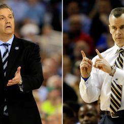 Other SEC coaches want you to know that the SEC is about more than John Calipari's (L) Wildcats and Billy Donovan's Gators.