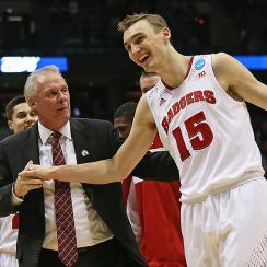 Bo Ryan (L) has many returning stars, including Sam Dekker, who we project will score 13.8 points a game this season.