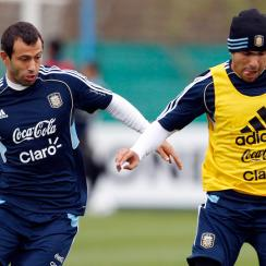 Argentina internationals Javier Mascherano, left, and Carlos Tevez are two high-profile players who fall under the third-party ownership umbrella.