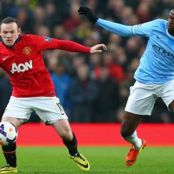 Wayne Rooney, left, and Yaya Toure have seen their respective Manchester clubs struggle while Chelsea runs away with first place in the Premier League.