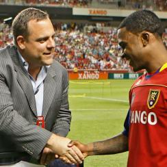 Garth Lagerwey, left, is the Seattle Sounders' new general manager after a successful run with Real Salt Lake.