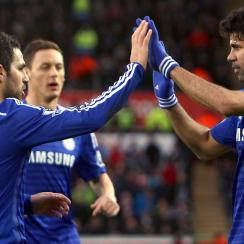 Cesc Fabregas, left, and Diego Costa, right, have made a major impact on Chelsea's fortunes since joining the club in the summer.