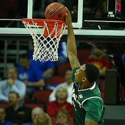 Chris Cokley's dunk made it clear the Blazers wouldn't be going away against No. 3 seed Iowa State.