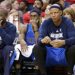 Mavericks coach Rick Carlisle benched Rajon Rondo, pictured in Game 1, for the second half of Game 2.