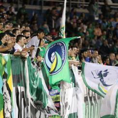 The New York Cosmos supporters look on with focused apprehension as they watch their Cosmos fight to come from behind against NYCFC in the second half of their U.S. Open Cup fourth-round match.