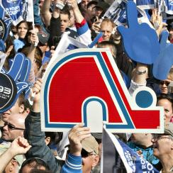 """In 2010, residents of Quebec City pushed for the return of the Nordiques at the """"Blue March."""""""