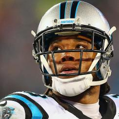 Kelvin Benjamin can only watch as Carolina Panthers continue their undefeated season.