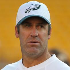 Doug Pederson as Eagles quarterbacks coach in 2010.