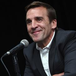 George McPhee speaks after being introduced as the general manager of the Las Vegas NHL franchise during a news conference at T-Mobile Arena on July 13, 2016 in Las Vegas, Nevada. (Photo by Ethan Miller/Getty Images)