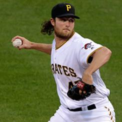 Pittsburgh Pirates starting pitcher Gerrit Cole delivers in the fourth inning of a baseball game against the Seattle Mariners in Pittsburgh, Wednesday, July 27, 2016. (AP Photo/Gene J. Puskar)