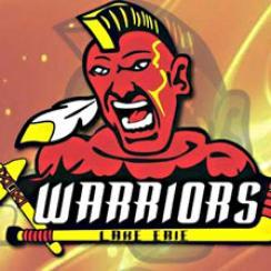 Racist Lake Erie Warriors junior hockey logo