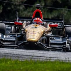 IndyCar driver James Hinchcliffe in action