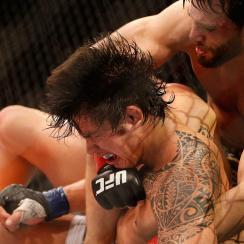 Jon Fitch (right) vs. Erick Silva at UFC 153 in Rio de Janeiro in October 2012.
