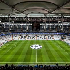 An interior view of Vodafone Arena.