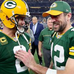 Mason Crosby hit the game-winning field goal after Aaron Rodgers' miraculous throw helped put the Packers in position.