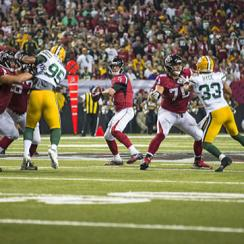 Atlanta Falcons quarterback Matt Ryan throws a pass against the Green Bay Packers in Week 8.