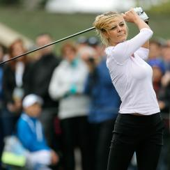 Model and actress Kelly Rohrbach on Wednesday at the AT&T Pebble Beach Pro-Am.