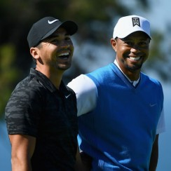 Jason Day and Tiger Woods were paired together during the first round of the 2017 Farmer's Insurance Open at Torrey Pines.