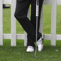 Jaco Van Zyl is using a unique putter this week at the Joburg Open.