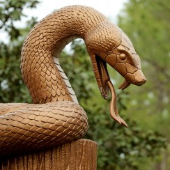 Some of the hardest holes in golf follow this statue at Innisbrook.