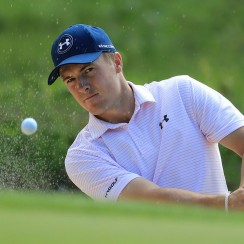 Jordan Spieth practices ahead of the 2017 WGC-Dell Technologies Match Play tournament.