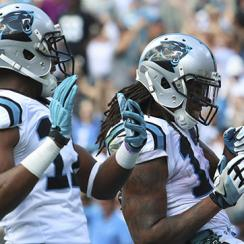 """Devin Funchess is flagged for being a little too good at Kelvin Benjamin's """"Pause On 'Em"""" dance."""