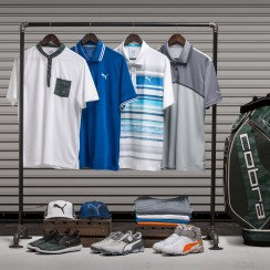 Rickie Fowler's style for the 2017 Masters includes the limited edition 'Flagstick Camo' collection.