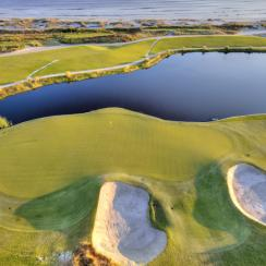 Kiawah Island's Ocean Course (17th green pictured) is our top-ranked course you can play in South Carolina.
