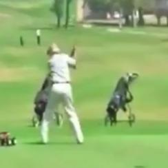 This is what happens when you mess with golfers.