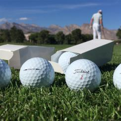 Titleist reps handed out prototype versions of the new Pro V1 and Pro V1x at the 2016 Shriners Hospitals for Children Open.