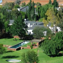 An aerial view of the property.
