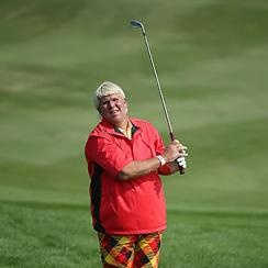 John Daly at the Travelers Championship golf tournament at the TPC River Highlands on June 19, 2014.