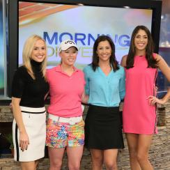 LPGA Tour pro Morgan Pressel (second from left) joins Lauren Thompson, Paige Mackenzie and Bailey Mosier on the set of 'Morning Drive.'