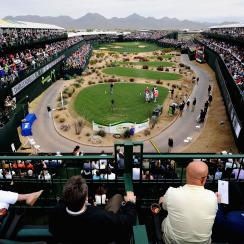 A view of the 16th hole during the second round of the Waste Management Phoenix Open.