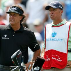Former PGA of America president Ted Bishop says Phil Mickelson (left), shown at Bethpage Black in 2012, wants to captain the U.S. Ryder Cup team at the same course in 2024.