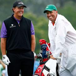 """Phil Mickelson and Jim """"Bones"""" Mackay are one of the most successful caddie-player pairings in PGA Tour history."""