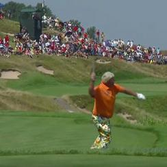 John Daly launched an iron into Lake Michigan after carding a 10 on a par-3.