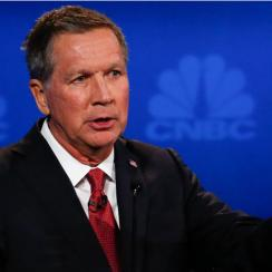 John Kasich participates in CNBC's 'Your Money, Your Vote: The Republican Presidential Debate' live from the University of Colorado Boulder in Boulder, Colorado .