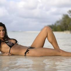 Daniella Sarahyba poses in the water in the Cayman Islands in 2007.