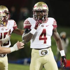 The Seminoles embarrassed the Cardinals' highly touted defense with 35 second-half points to erase a 24-7 deficit. Winston rebounded from a horrid three-interception start to pass for 401 yards and three touchdowns while redshirt freshman Dalvin Cook added 110 rushing yards on nine carries with two scores, including the go-ahead touchdowns with 3:46 left. Florida State's defense also chipped in, holding Louisville for 1-of-11 on third downs.