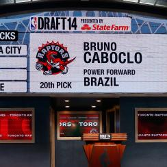 The Raptors went off the board in selecting Bruno Caboclo with the 20th pick.