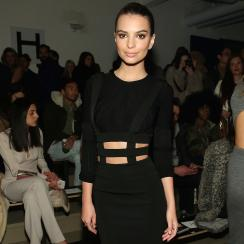 Emily Ratajkowski attends the Cushnie Et Ochs runway show during MADE Fashion Week Fall 2015 at Milk Studios Feb. 13 in New York City.
