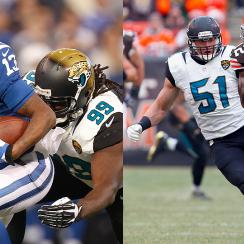 Defensive tackle Sen'Derrick Marks (l.) and Linebacker Paul Posluszny have outpaced Jacksonville's recent disappointments.