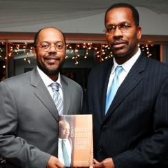 Kevin Merida (left) and Michael Fletcher promoting the release of their book Supreme Discomfort, the Divided Soul of Clarence Thomas