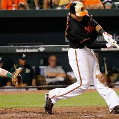 Manny Machado hit a two RBI walk off home run against the Oakland Athletics in the 13th inning on Aug. 14 to give the Baltimore Orioles an 8-6 win.