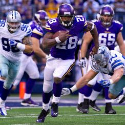 Considered by many as the No. 1 fantasy player, Adrian Peterson had something of an off-year in 2013, rushing for 1,266 yards and 10 touchdowns.