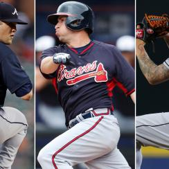 L to R: Alex Wood, Jose Peraza, Mat Latos
