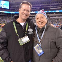 Sports Illustrated Director of Photography Brad Smith (left) and Neil Leifer