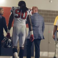 Jadeveon Clowney's NFL debut was a short one.